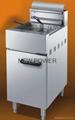 gas deep frye 400x900x1000mm,capacity 25L