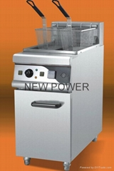 single Tank Electric Fryer 2 baskets