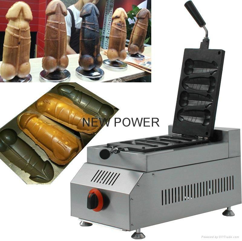 Gas penis shape waffle
