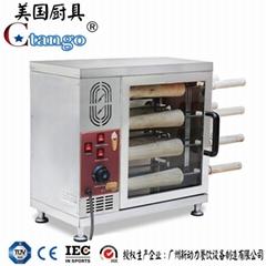 新款烤麵包機/麵包圈機器/商用甜甜圈烤匈牙利煙囪卷機