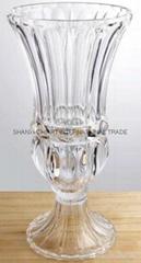 Machine Press Glass Vase