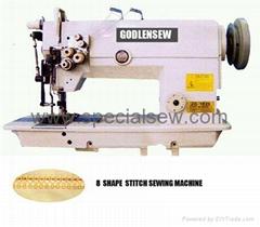8 字型花飾線縫紉機