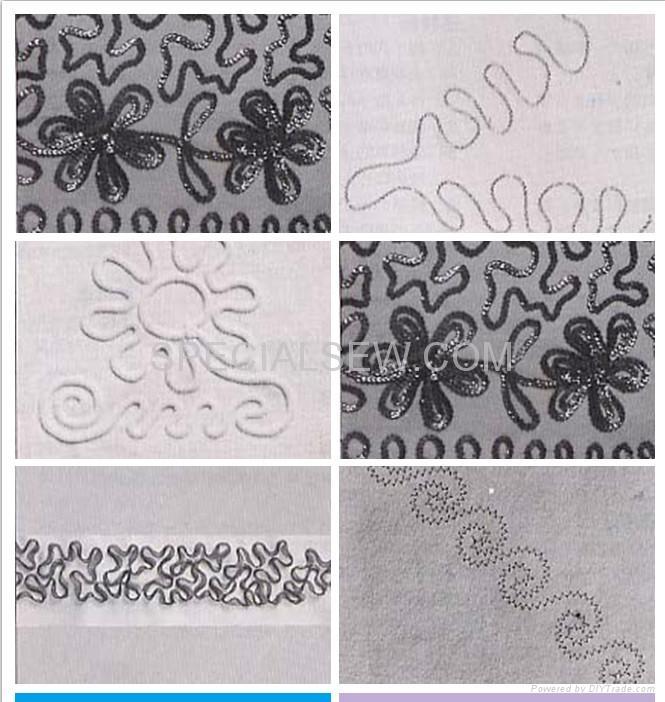 財富牌單針•雙針兼用的人字平縫手搖式繡花機 2