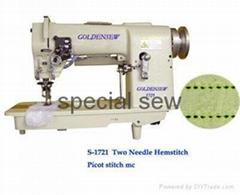 two needle hemstitch picot stitch sewing machine