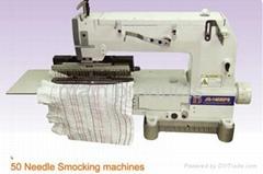 50 needle elastic shirring and  sewing machine