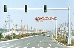 Single-Armed Traffic Lamp Pole