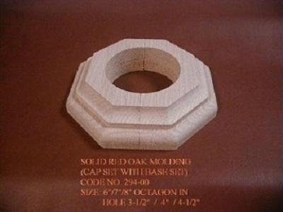 Solid wood molding for pole and column cover and for Advanced molding and decoration
