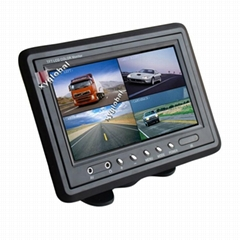 Quad split car monitor (Cross Split / H Split optional)(XY-2073Q)