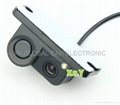 Integrated car rear view camera with visible parking sensor and buzzer