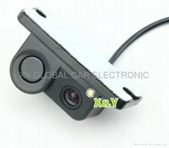 可視倒車雷達一體式后視攝像頭(XY-9818)