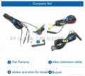 Integrated car rear view camera with visible parking sensor and buzzer 2