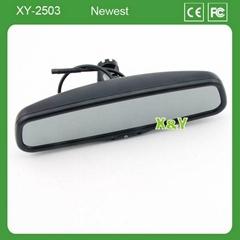 4.3寸自動電子防眩目車載后視鏡顯示器 可加溫度計/指南針功能