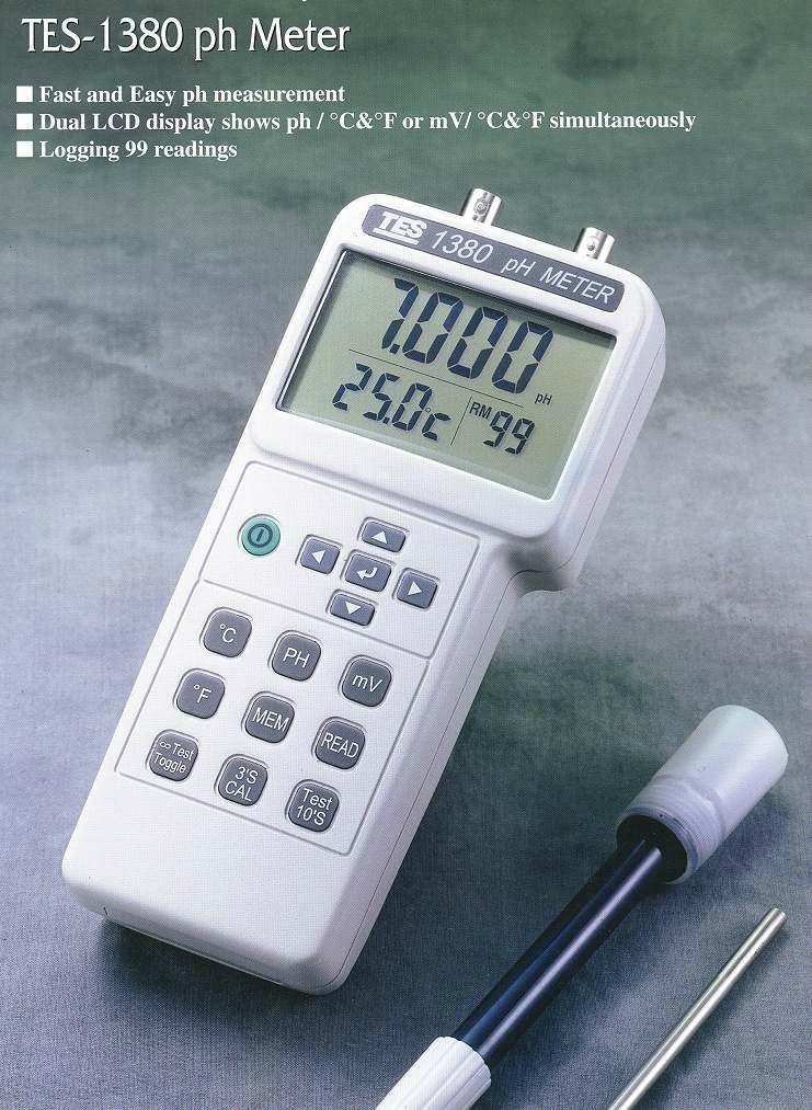 Ph Meter For Chemicals : Ph orp temperature meter tes k china