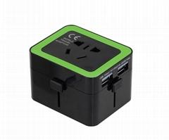 雙USB兼容安卓蘋果 全球150多個國家地區可使用的轉換器/插座