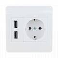 欧规USB面板墙面插座