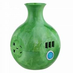 new vase art usb wall socket