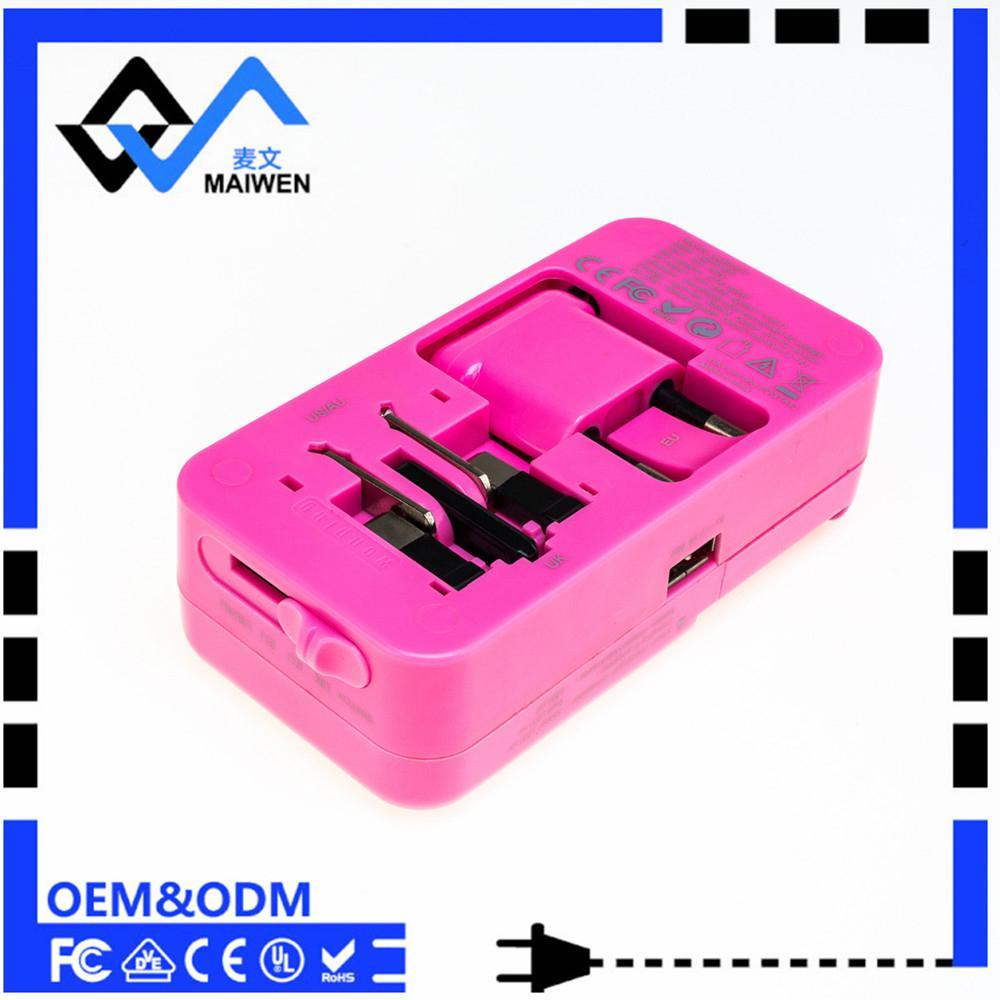 多功能旅行转换插座USB2.1A手机锂电池充电座充 3