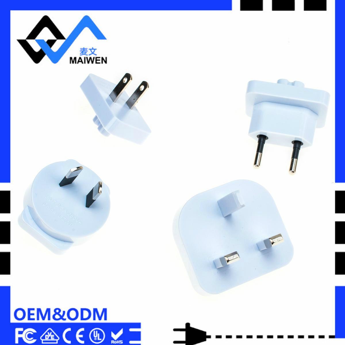 3.1A 双USB充电器套装带欧规,美规,英规,澳规插头 4