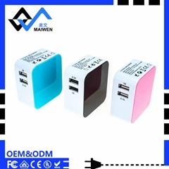 3.1A 雙USB充電器套裝帶歐規,美規,英規,澳規插頭
