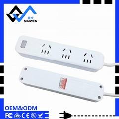 单USB  LED灯 1.2米线长新国标插座排插 大间距排插