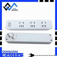 单USB 插头可旋转 LED灯 无线新国标插座排插 大间距排插