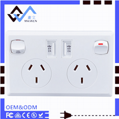 AU plug switch socket wi