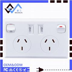 AU plug switch socket wi
