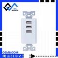 美规USB墙壁插座