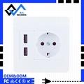 Schuko Dual USB Euro Wall socket