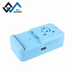 多功能旅行轉換插座USB2.1A手機鋰電池充電座充