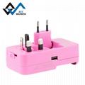 多功能旅行轉換插座USB2.1A手機鋰電池充電座充 3