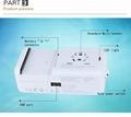 多功能旅行转换插座USB2.1A手机锂电池充电座充 8