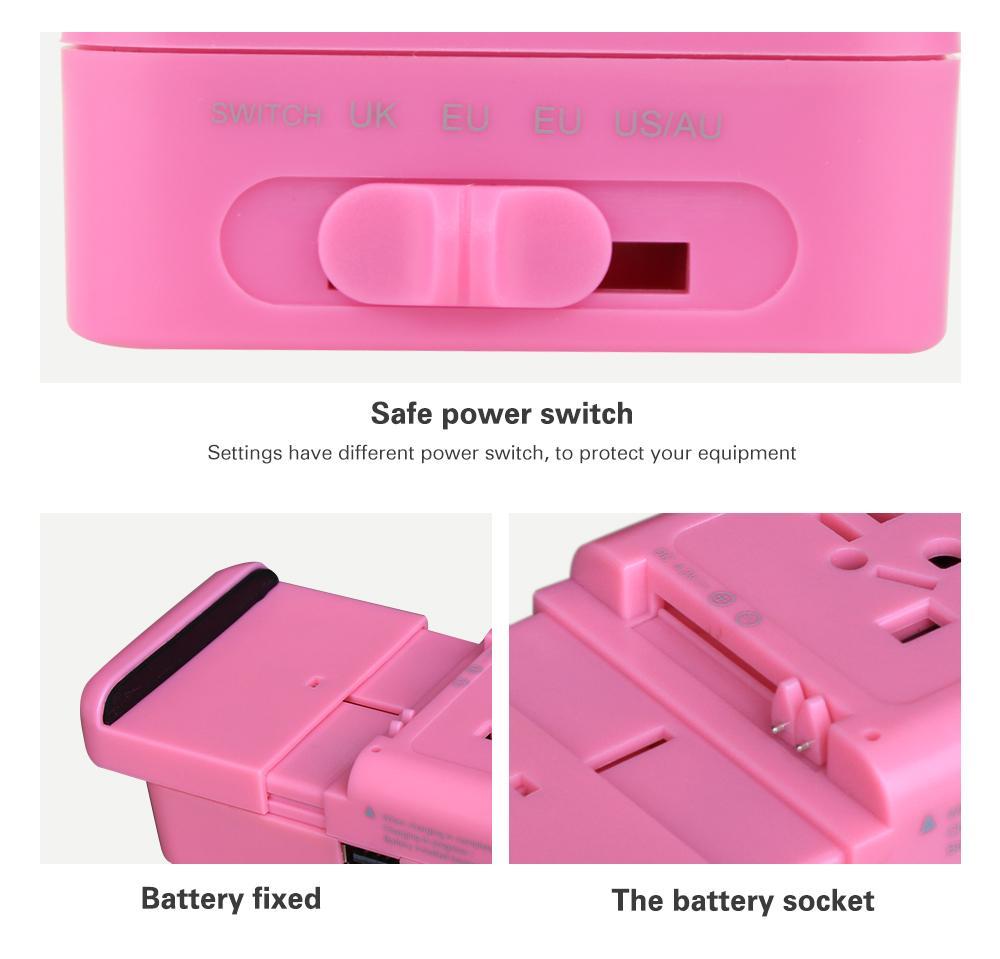 多功能旅行轉換插座USB2.1A手機鋰電池充電座充 10