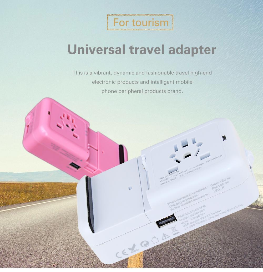 多功能旅行轉換插座USB2.1A手機鋰電池充電座充 11