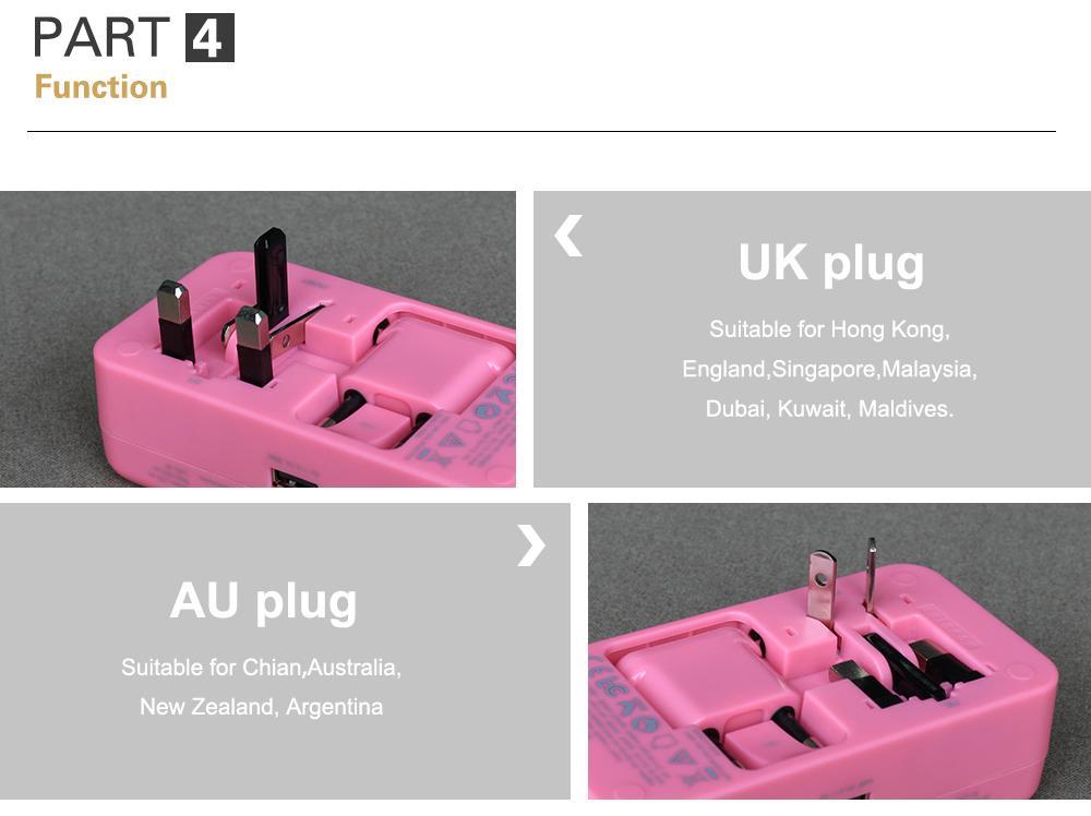 多功能旅行转换插座USB2.1A手机锂电池充电座充 13
