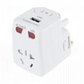 USB5V1A 旅游达人必备多功能转换插头
