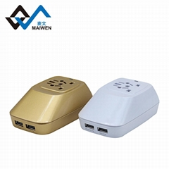 world travel adaptor with dual usb port