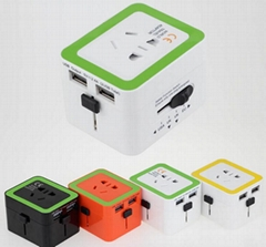 World Travel Adapter with 2 USB