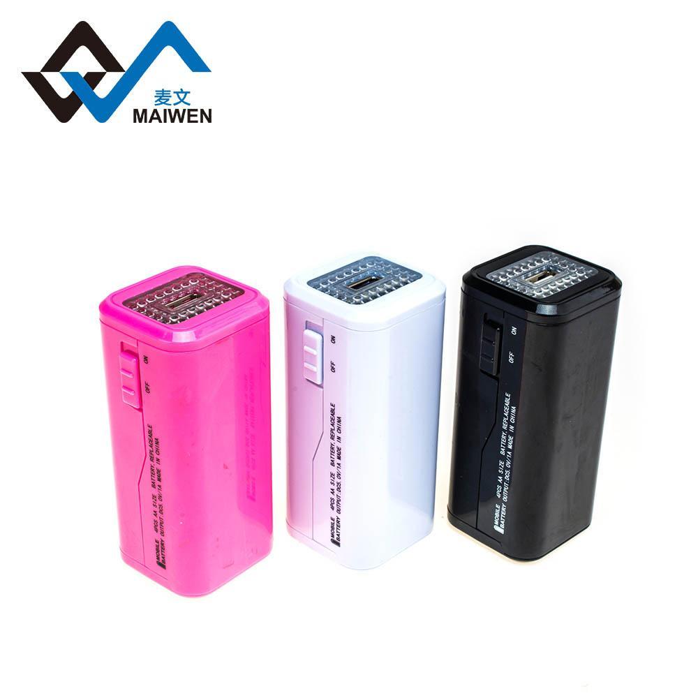 4pcs AA battery power bank 5