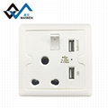 Dual usb south africa type switch wall