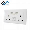Dual usb charger ports UK wall socket