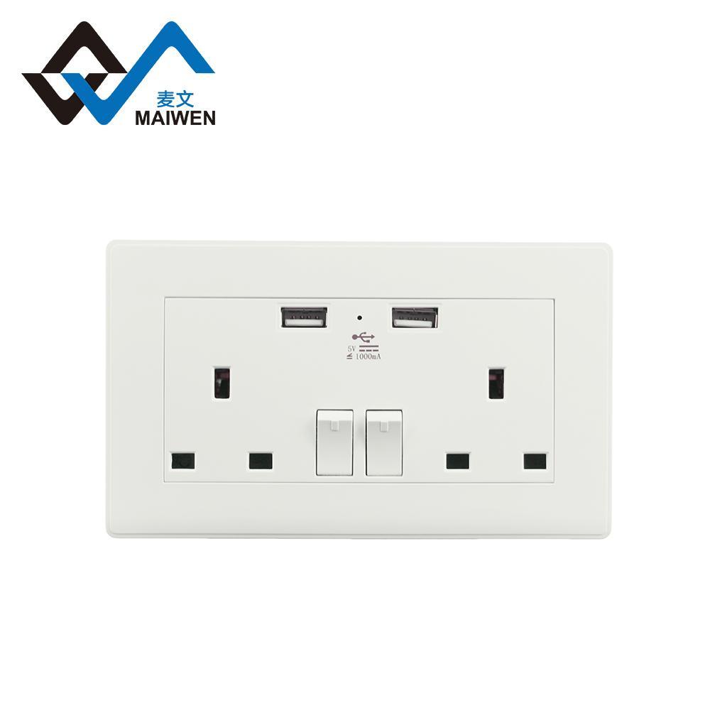 Dual usb charger ports UK wall socket 2