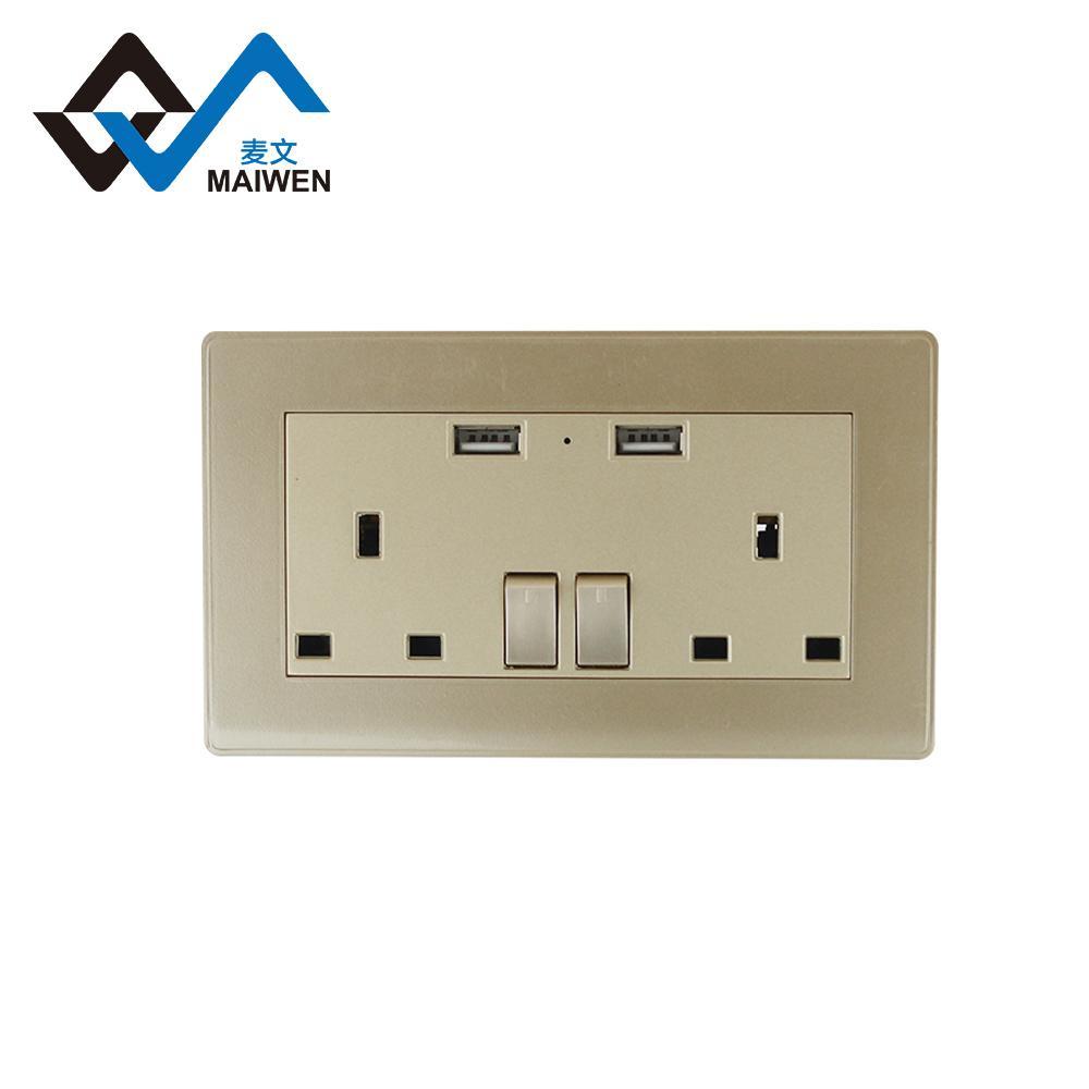 Dual usb charger ports UK wall socket 3