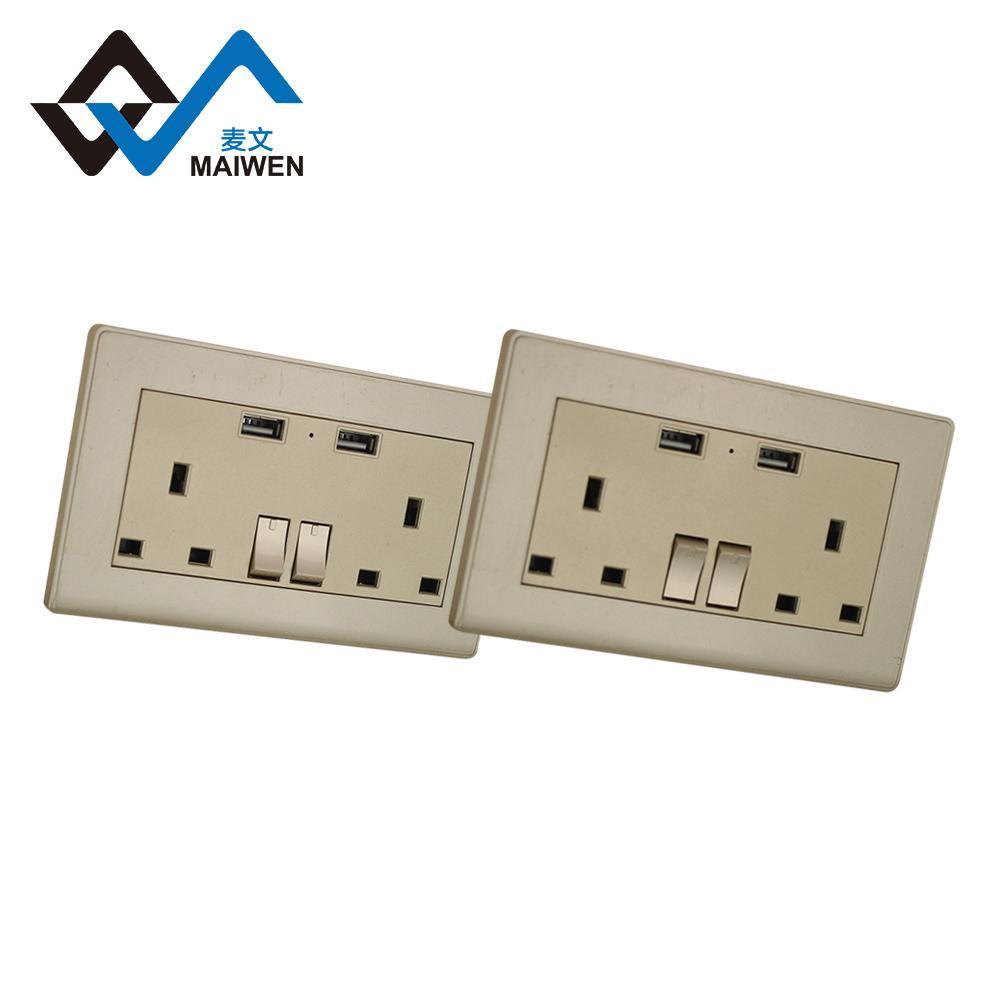 Dual usb charger ports UK wall socket 4