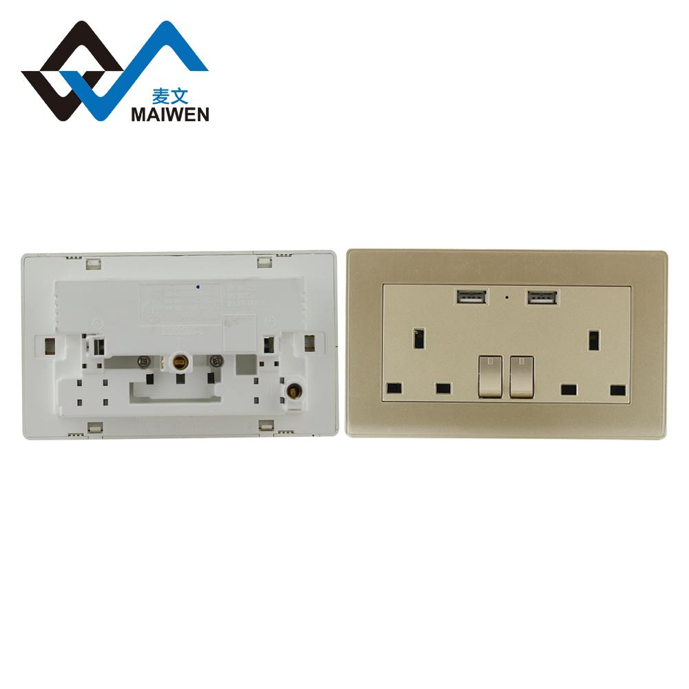 Dual usb charger ports UK wall socket 6