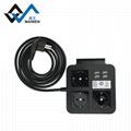 桌面歐規插座排插 手機架 4USB和Type-C接口 4/2位插座 1