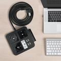桌面欧规插座排插 手机架 4USB和Type-C接口 4/2位插座 4