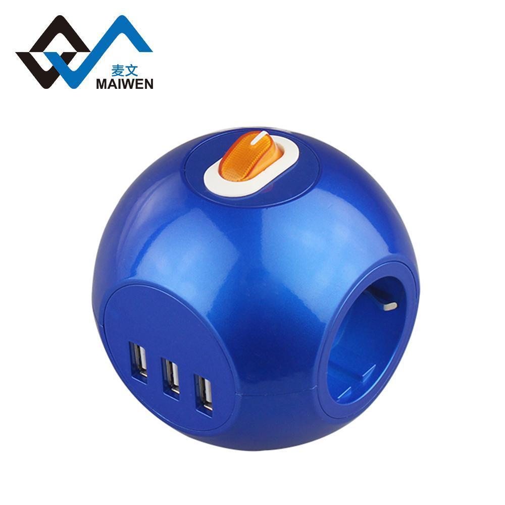 球形3USB欧式排插 3