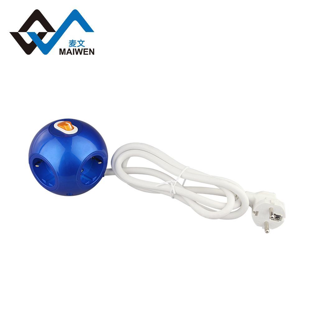 球形3USB欧式排插 5