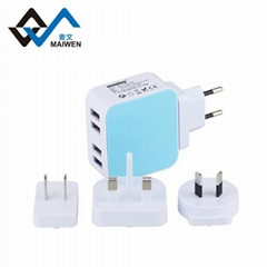 全球通USB充电器4个USB2.1A
